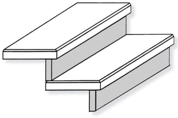 setzstufen aus waschbeton f r stiegen oder den hauseingang. Black Bedroom Furniture Sets. Home Design Ideas